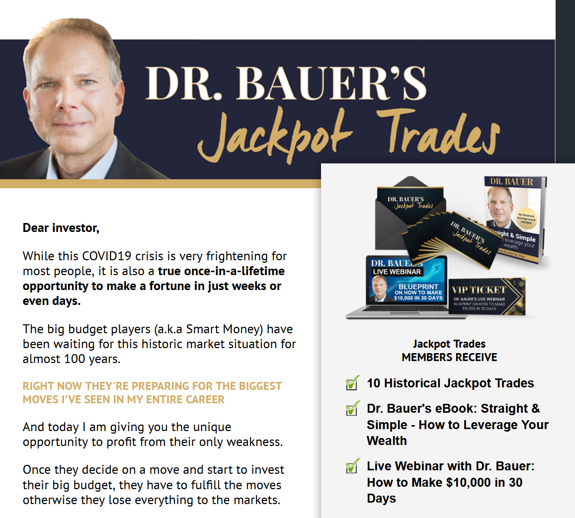 Dr. Bauer's Jackpot Trades Review