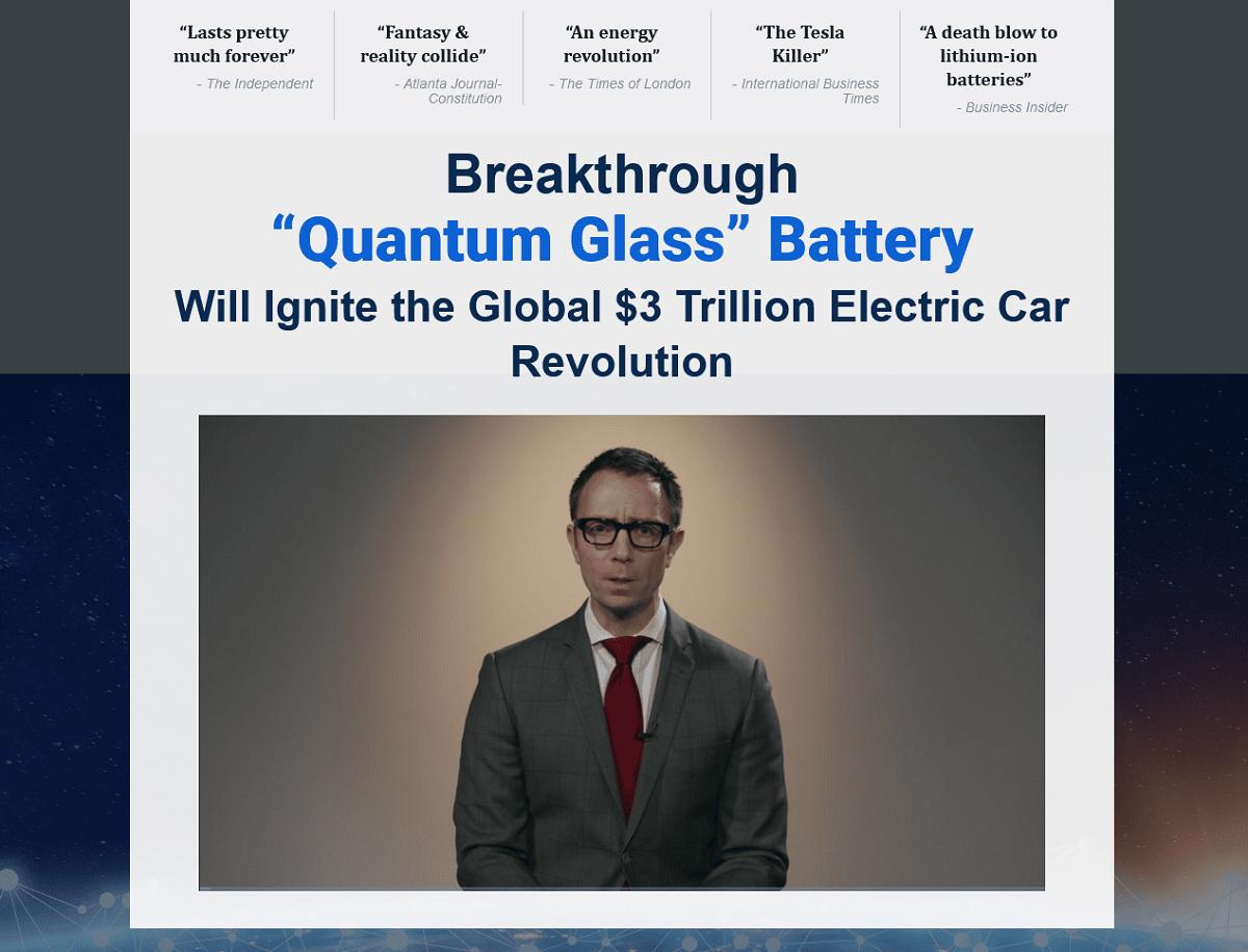 """Matt McCall's Breakthrough """"Quantum Glass"""" Battery"""