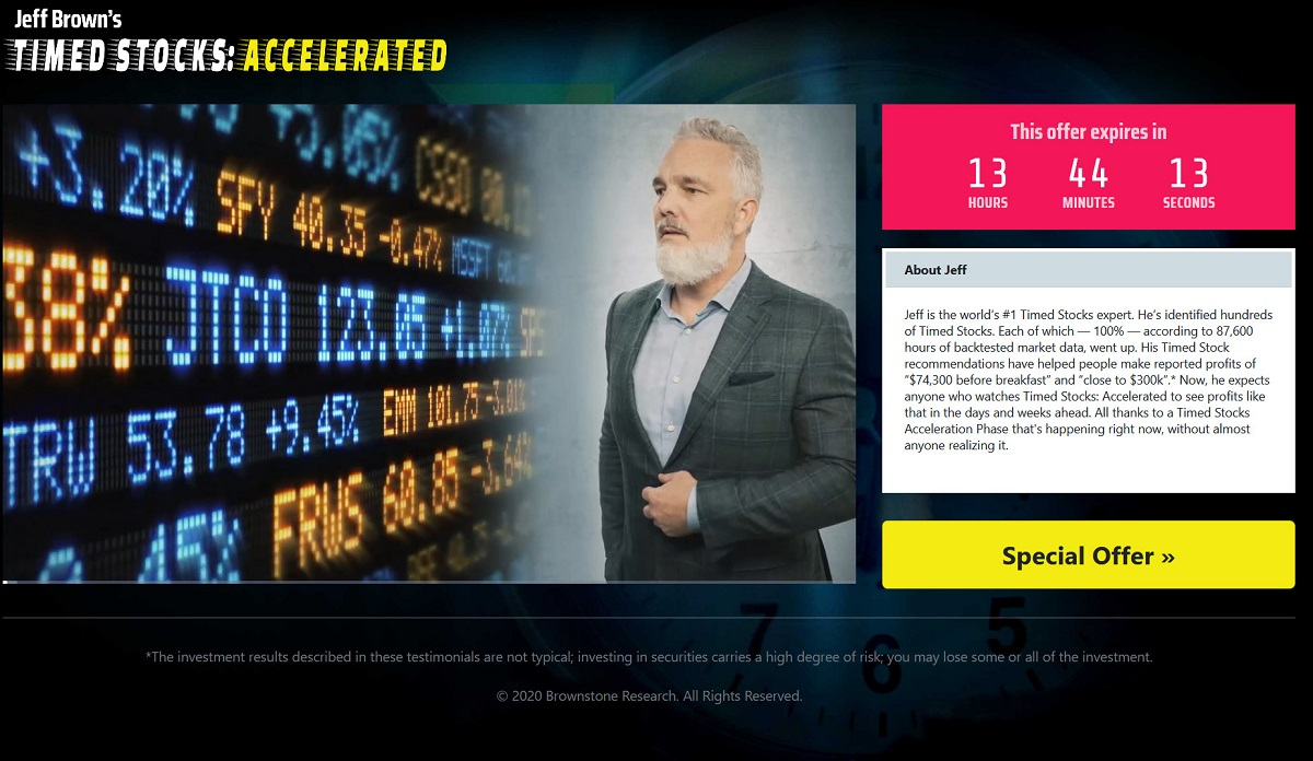 Timed Stocks Accelerated: Jeff Brown Answers All Of Your Questions