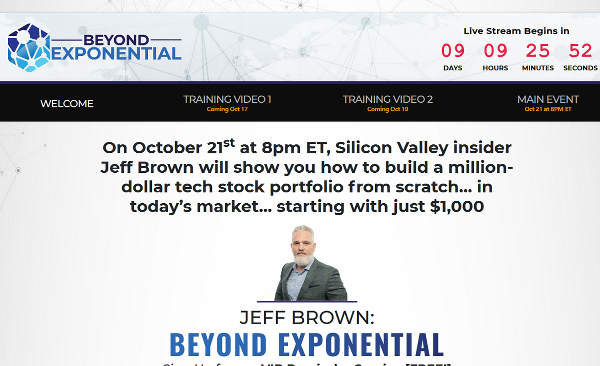 Jeff Brown: Beyond Exponential Summit: How to Build a Million-Dollar Tech Portfolio