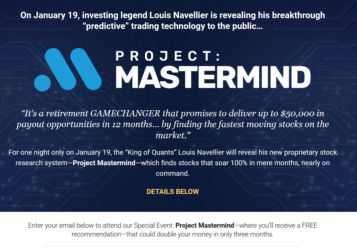 Louis Navellier's Project Mastermind 2021 Live Event