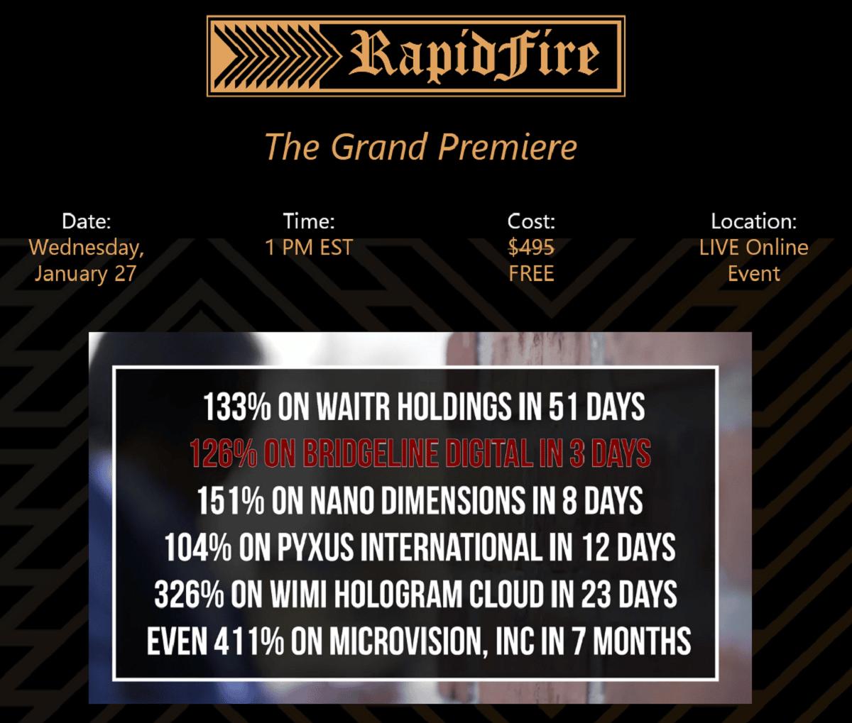 The RapidFire Master Class